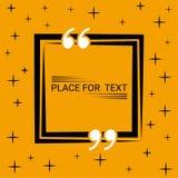 Concetto della scatola del dialogo nella bolla in bianco del testo di citazione del quadrato di discorso Fotografia Stock Libera da Diritti