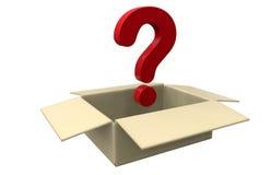 Concetto della scatola di mistero illustrazione di stock
