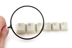 Concetto della scelta Immagini Stock Libere da Diritti