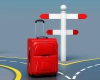 Concetto della scelta di viaggio 3d rendono i cilindri di image Fotografia Stock