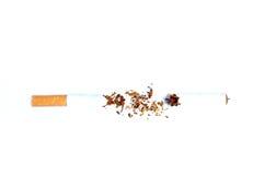 Concetto della sigaretta di dipendenza del tabacco del nicotina immagine stock