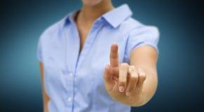 Concetto della soluzione della donna di affari Immagine Stock