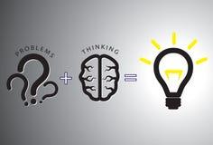 Concetto della soluzione di problema - risolverlo che usando cervello Immagine Stock Libera da Diritti