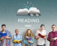 Concetto della soluzione di visione di intelligenza di conoscenza della lettura Immagini Stock