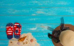 Concetto della spiaggia per estate fotografie stock