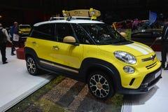 Concetto della spuma della via di Fiat al salone dell'automobile di Ginevra Fotografia Stock Libera da Diritti