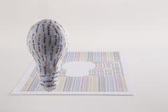 Concetto della stampante di CYMK 3D: lampadina Immagine Stock Libera da Diritti