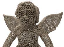 Concetto della statua di angelo della maglia Fotografie Stock