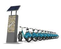 Concetto della stazione della bici Fotografia Stock Libera da Diritti