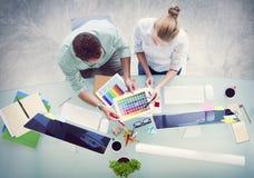 Concetto della stazione di lavoro di strategia di associazione di pianificazione di 'brainstorming' Immagini Stock