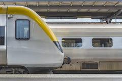 Concetto della stazione ferroviaria Fotografie Stock