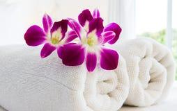 Concetto della stazione termale e dell'orchidea Immagine Stock Libera da Diritti
