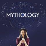 Concetto della stella dell'universo dell'universo di mitologia fotografia stock libera da diritti