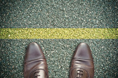 Concetto della strada - linea gialla Immagine Stock Libera da Diritti