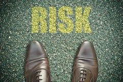 Concetto della strada - rischio Immagine Stock