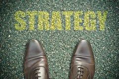 Concetto della strada - strategia Fotografia Stock