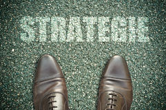 Concetto della strada - strategie Fotografie Stock
