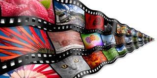 Concetto della striscia di pellicola della foto Fotografie Stock Libere da Diritti