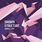 Concetto della struttura di origami Fotografia Stock Libera da Diritti
