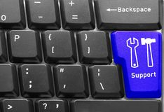 Concetto della tastiera di calcolatore Immagini Stock Libere da Diritti