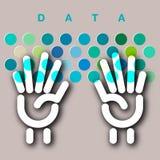 Concetto della tastiera di entrata di dati Immagini Stock Libere da Diritti