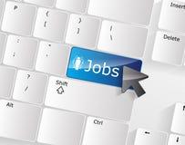 Concetto della tastiera di job Fotografie Stock Libere da Diritti