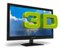 concetto della televisione 3D Fotografia Stock Libera da Diritti