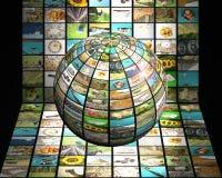 concetto della televisione 3D Fotografia Stock