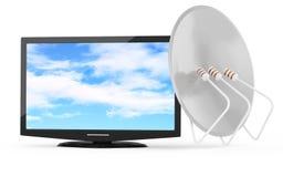 Concetto della televisione via satellite illustrazione di stock