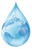 Concetto della terra della goccia di acqua illustrazione di stock