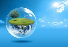 Concetto della terra verde Fotografia Stock