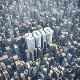 concetto 2019 della torre dell'ufficio Immagine Stock Libera da Diritti