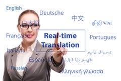 Concetto della traduzione online dalla lingua straniera fotografia stock