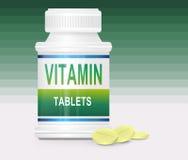 Concetto della vitamina. Fotografia Stock Libera da Diritti