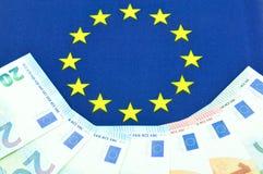Concetto della zona euro Fotografia Stock