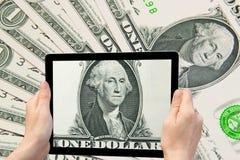 Concetto delle banconote del dollaro americano Fotografie Stock Libere da Diritti
