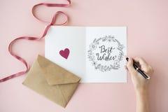 Concetto delle carte di regalo delle cartoline d'auguri di auguri Fotografia Stock