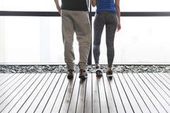 Concetto delle coppie del corridore di esercizio di forma fisica di sport di allenamento Fotografia Stock
