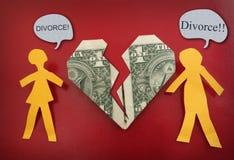 Concetto delle coppie di divorzio di combattimento Immagini Stock