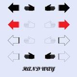 Concetto delle direzioni opposte, illustrazione stilizzata Immagine Stock Libera da Diritti