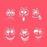 Concetto delle espressioni facciali differenti Fotografie Stock