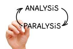 Concetto delle frecce di paralisi di analisi Fotografia Stock