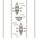 Concetto delle icone lineari dei kajak royalty illustrazione gratis