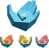 Concetto delle mani nello stile techno Illustrazione di Stock
