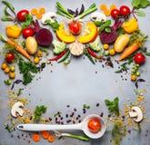 Concetto delle minestre di verdura sane Immagini Stock