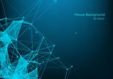 Concetto delle molecole dei neuroni e del sistema nervoso Ricerca medica scientifica Struttura molecolare con le particelle Scien royalty illustrazione gratis