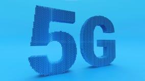 concetto delle reti di tecnologia 5G fotografia stock