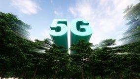 concetto delle reti di tecnologia 5G fotografie stock libere da diritti