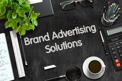 Concetto delle soluzioni di pubblicità di marca 3d rendono Fotografie Stock