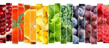 Concetto delle verdure e delle frutta Immagini Stock Libere da Diritti